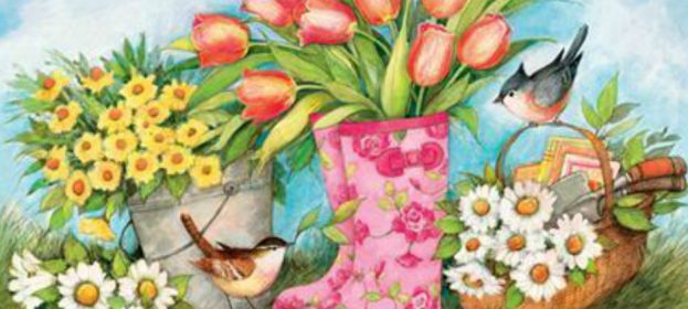 New Spring Decorative Flags: Sneak A Peek