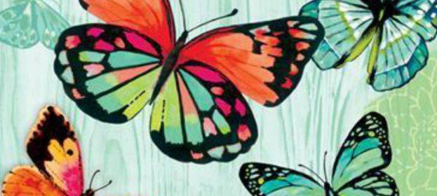 Beautiful Butterfly Garden Flags