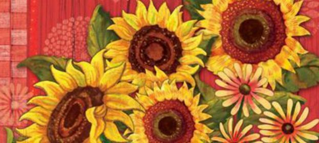 Decorative Sunflower Flags To Brighten Your Day