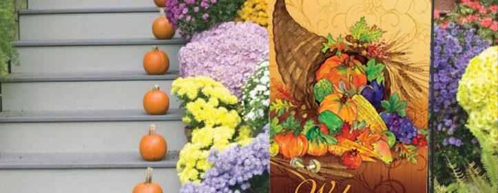 Decorative Fall Garden Flags & Doormats by Artist Gail Flores
