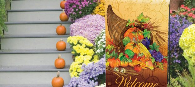 Decorative Fall Garden Flags & Doormats by Artist Gail Flores