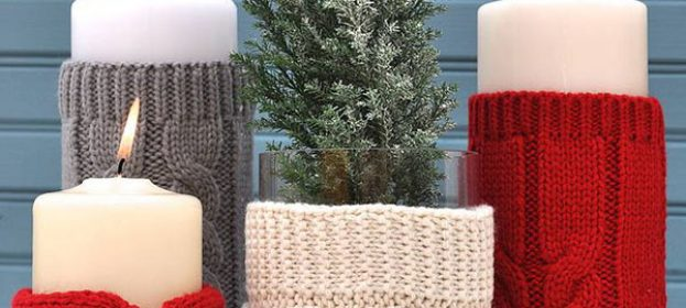 Sweater Candles - DIY Decorating Idea