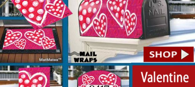 Victoria Hutto's Outdoor Valentine Decorative Flags