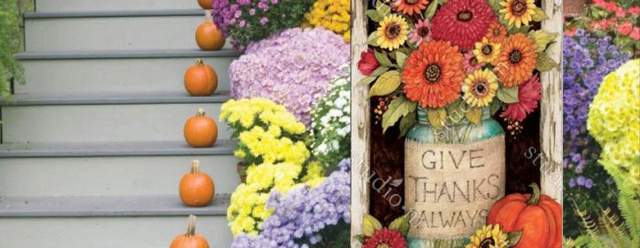 Outdoor Fall Flags and Decorative Autumn Decor by Susan Winget
