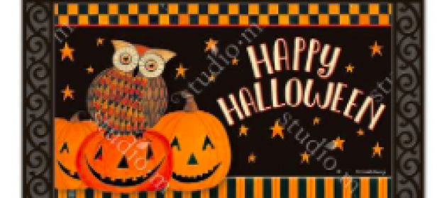 Halloween Door Decor, Flags and Doormats