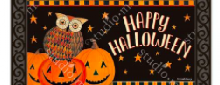 Halloween Door Decor, Flags and Doormats