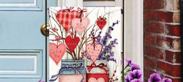 Decorative Valentine's Day Flags for Your Home