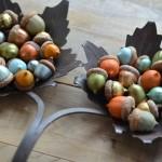 Painted acorns - fall decorating idea