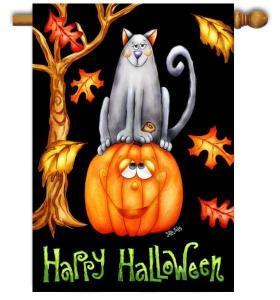 Pumpkin Cat Flag