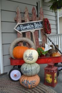 Pumpkin Topiary display