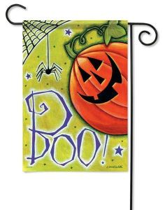 Pumpkin Spider Boo Halloween Flag