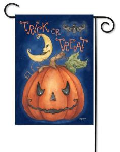 Pumpkin Treat Halloween Garden Flag