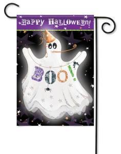 Halloween Boo Garden Flag
