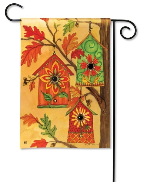 Birdhouse Fall Flag