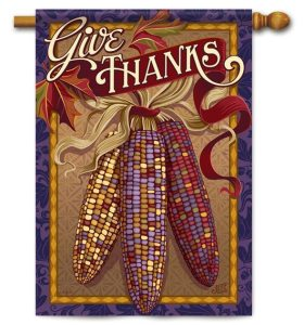 Give Thanks Decorative Fall Flag