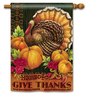 Thanksgiving decorative flag