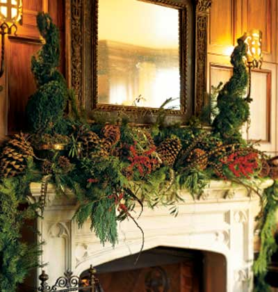christmas mantle - Christmas Mantel Decor
