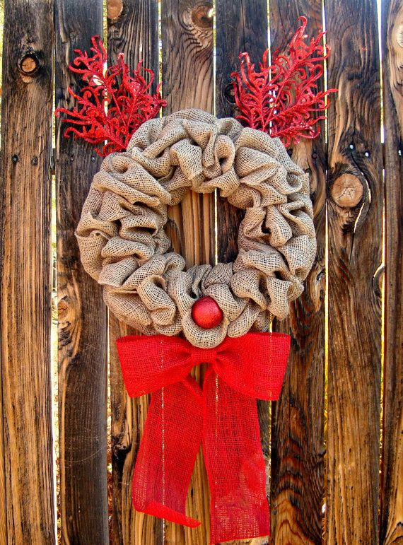 Rudolph Christmas wreath