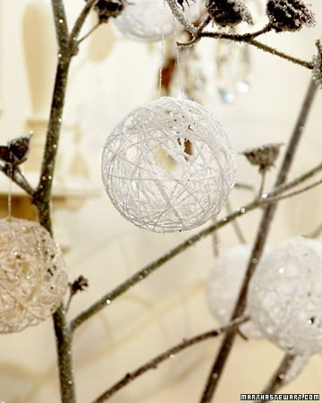 Snowy Ball Ornaments