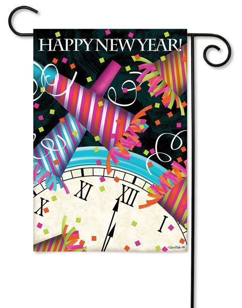 New Years Decorative Flags