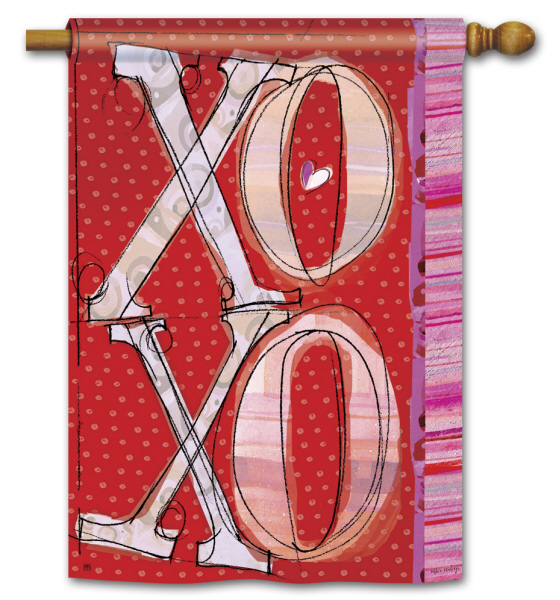 XOXO_Valentine_House_Flag