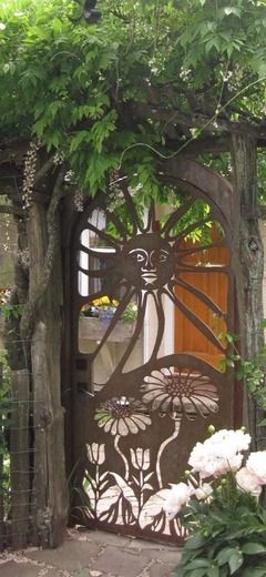rustic metal gate