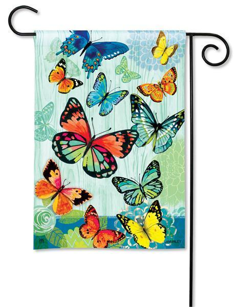 butterfly garden flags