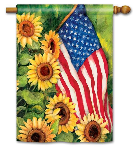 Patriotic decorative summer flag