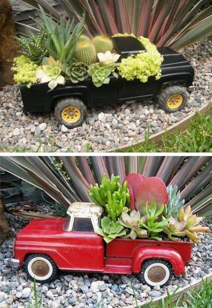 garden art containers