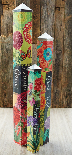 garden art poles