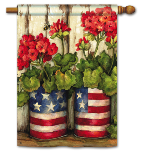 patriotic 4th of July decorative flag