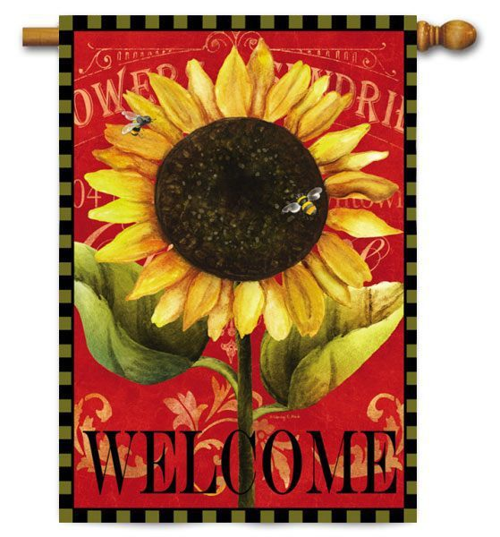 Decorative Sunflower Flags