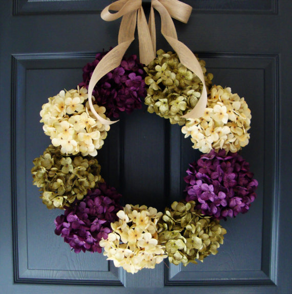 Door wreathes add curb appeal