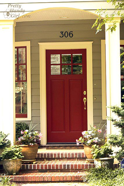 A painted front door for curb appeal