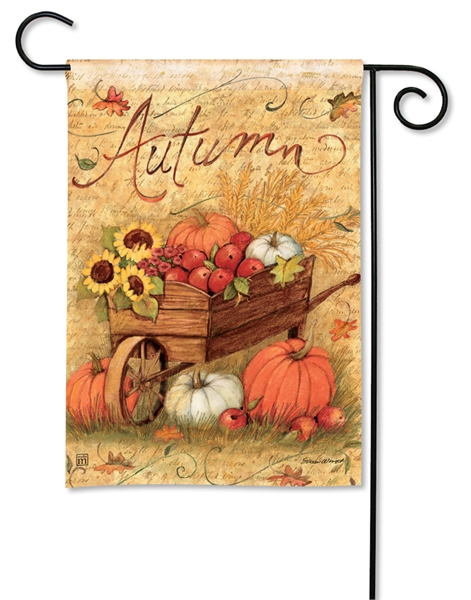 Autumn Cart Fall Garden Flag