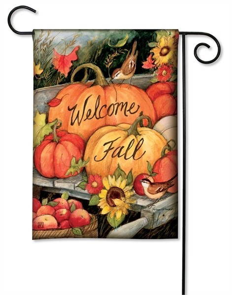 Welcome Fall Pumpkins Garden Flag