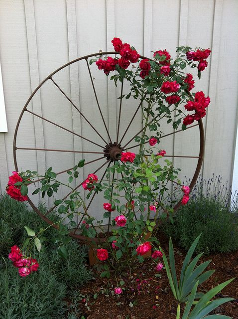 repurposed garden art