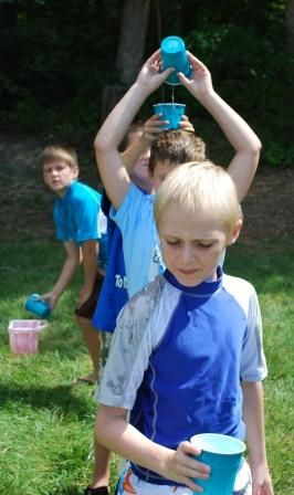 summer activities fill the bucket relay