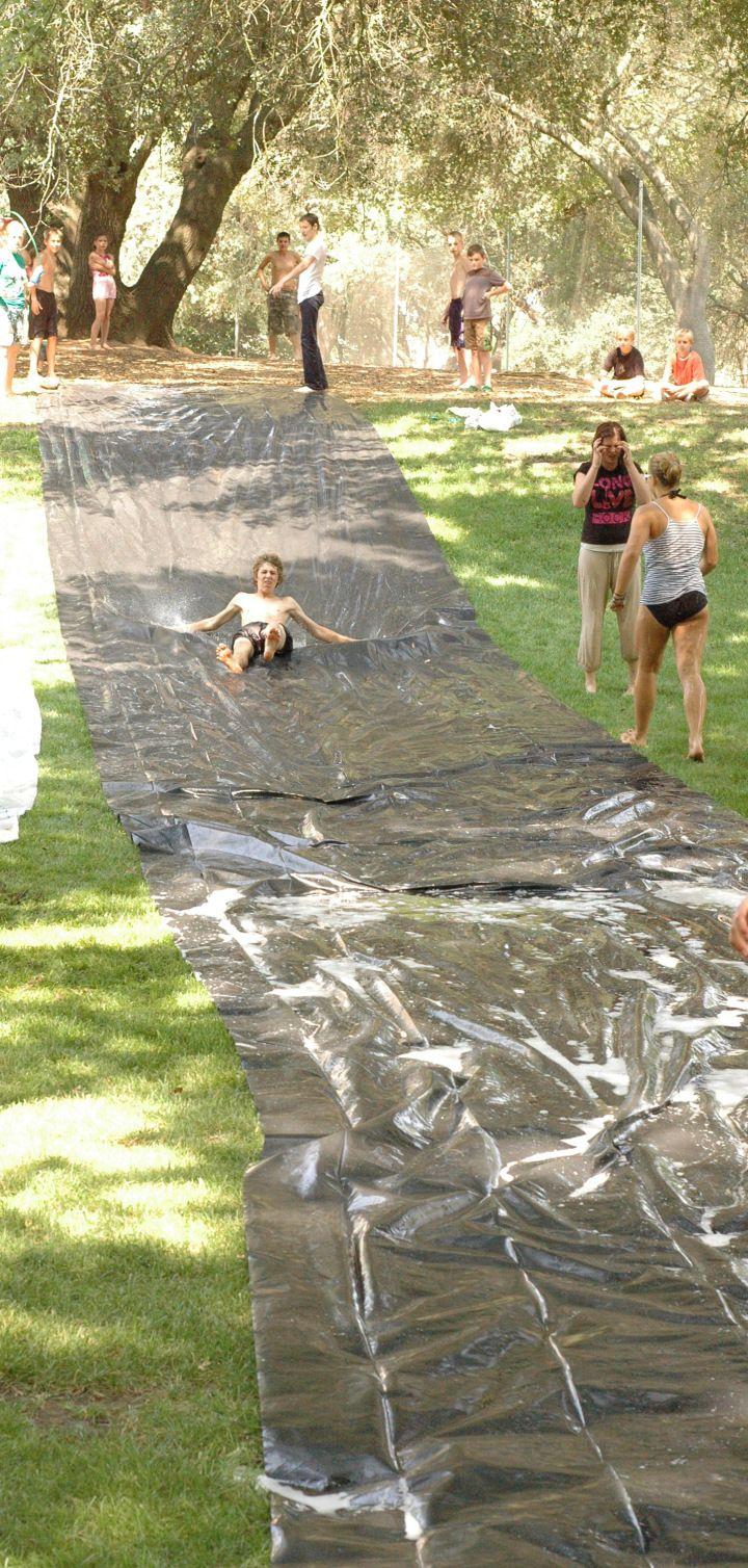 summer activities DIY water slide