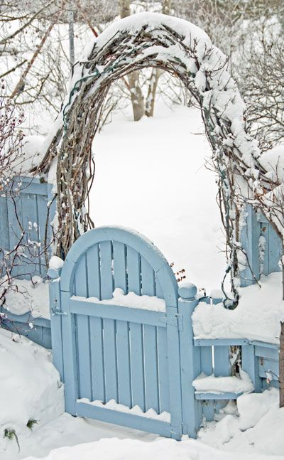 think about adding a garden gate - wintering garden tip