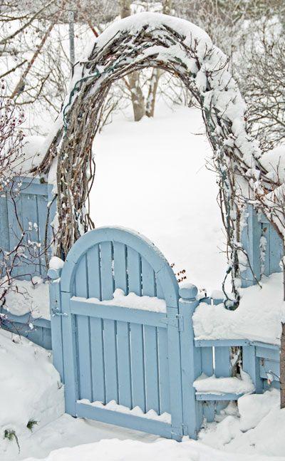 think about adding a garden gate - wintering garden tip