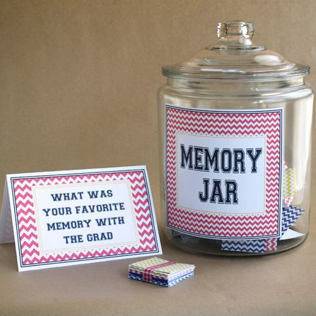 graduation party idea - memory jar