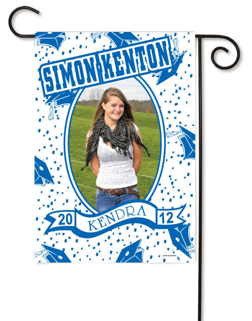 Graduation photo flag