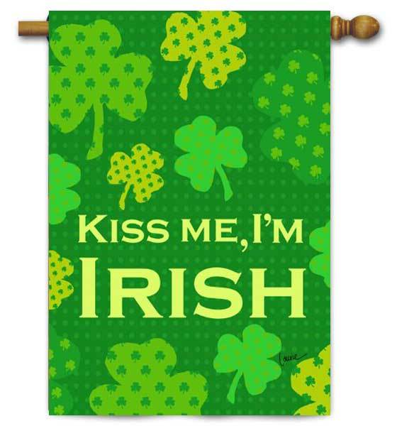 St. Patrick's Day Flags - Kiss Me I'm Irish
