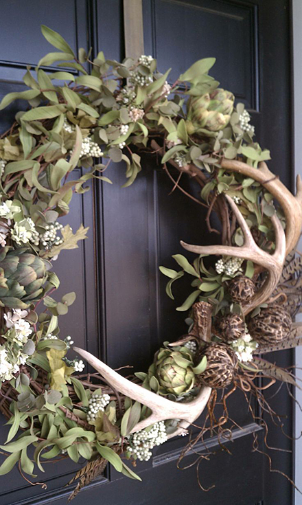 Antler holiday wreath