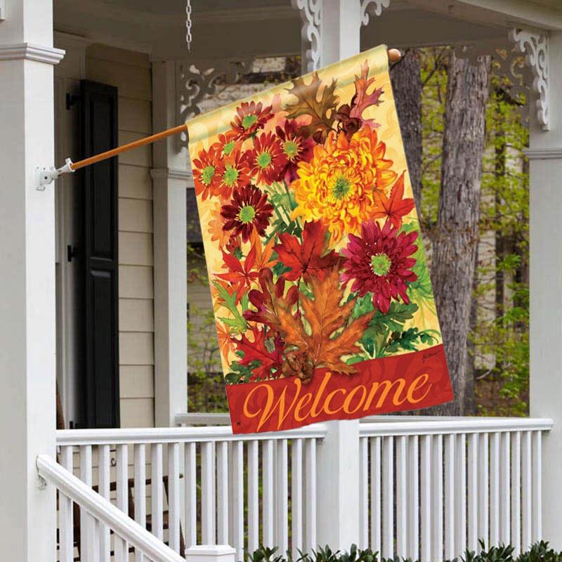 Autumn Bouquet House Flag