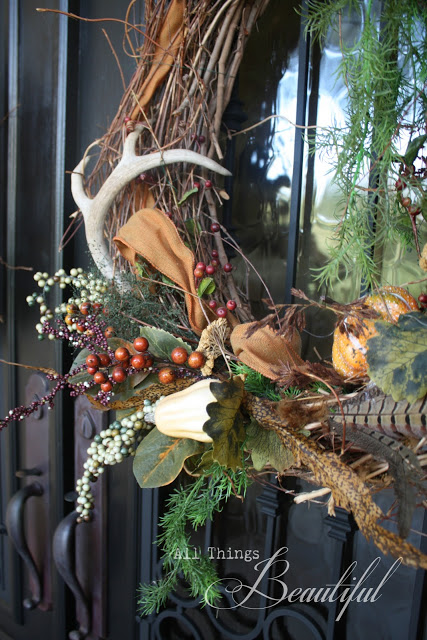 Fall wreath with antlers