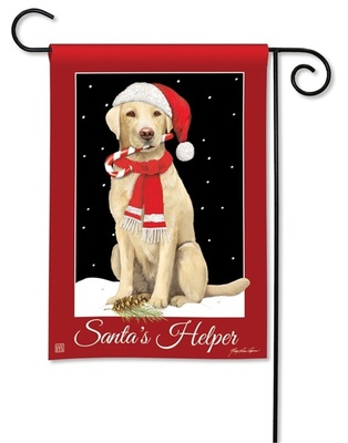 Santa's Helper Christmas Holiday Garden Flags