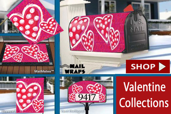 Valentine Wishes Decorative Flags Collection by Victoria Hutto