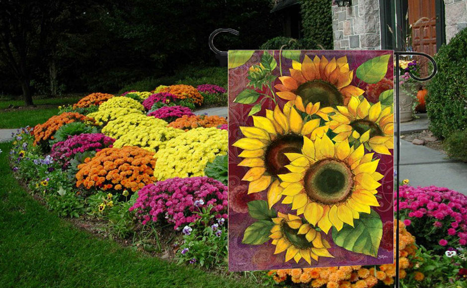 Sunflower Solstice Outdoor Garden Flags